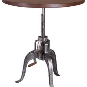 CRANK TABLE DARK WALNUT NICKEL ANTIQUE