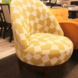 yellow pattern seat